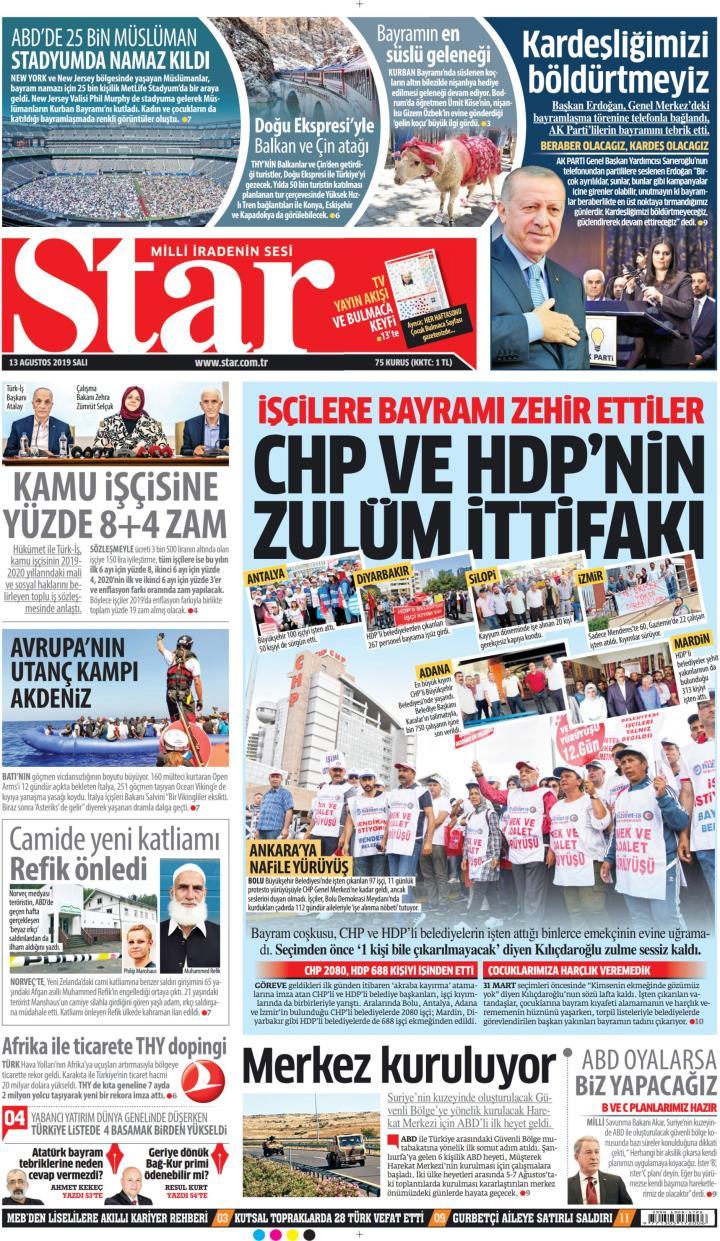 STAR - 13 Ağustos 2019