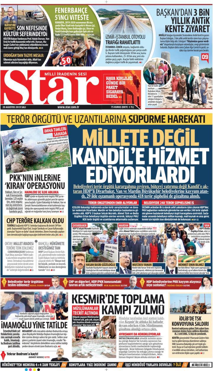 STAR - 20 Ağustos 2019