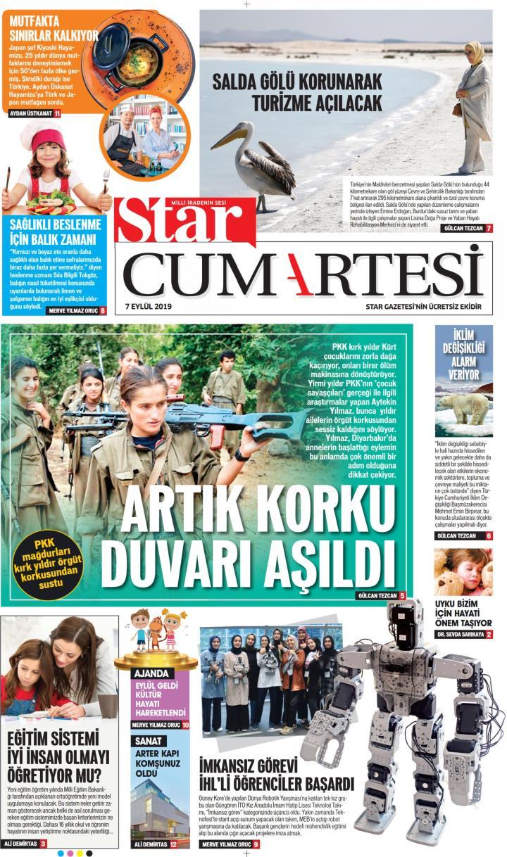 STAR CUMARTESİ - 07 Eylül 2019