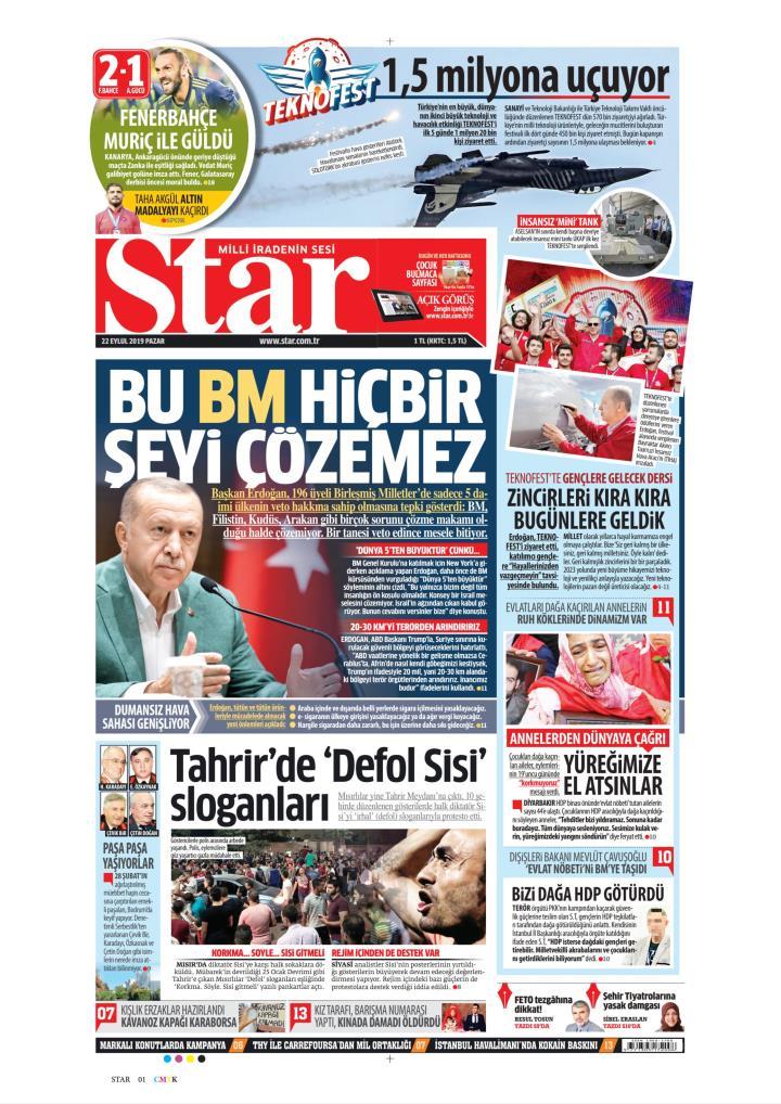 STAR - 22 Eylül 2019