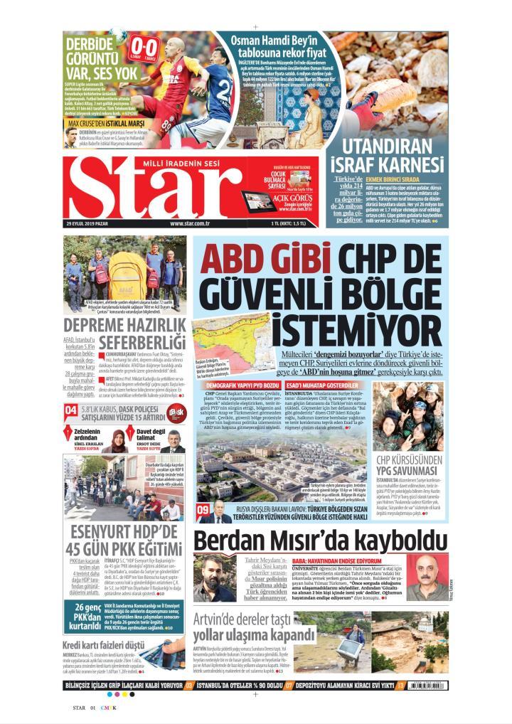 STAR - 29 Eylül 2019