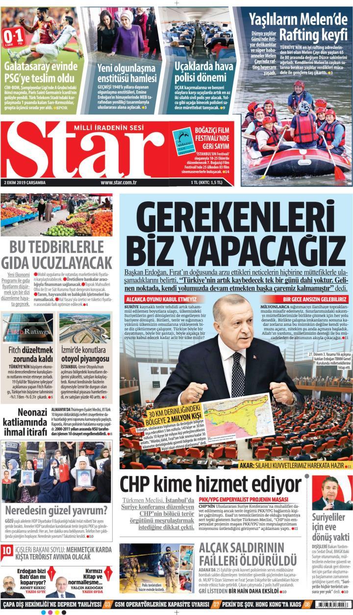 STAR - 02 Ekim 2019