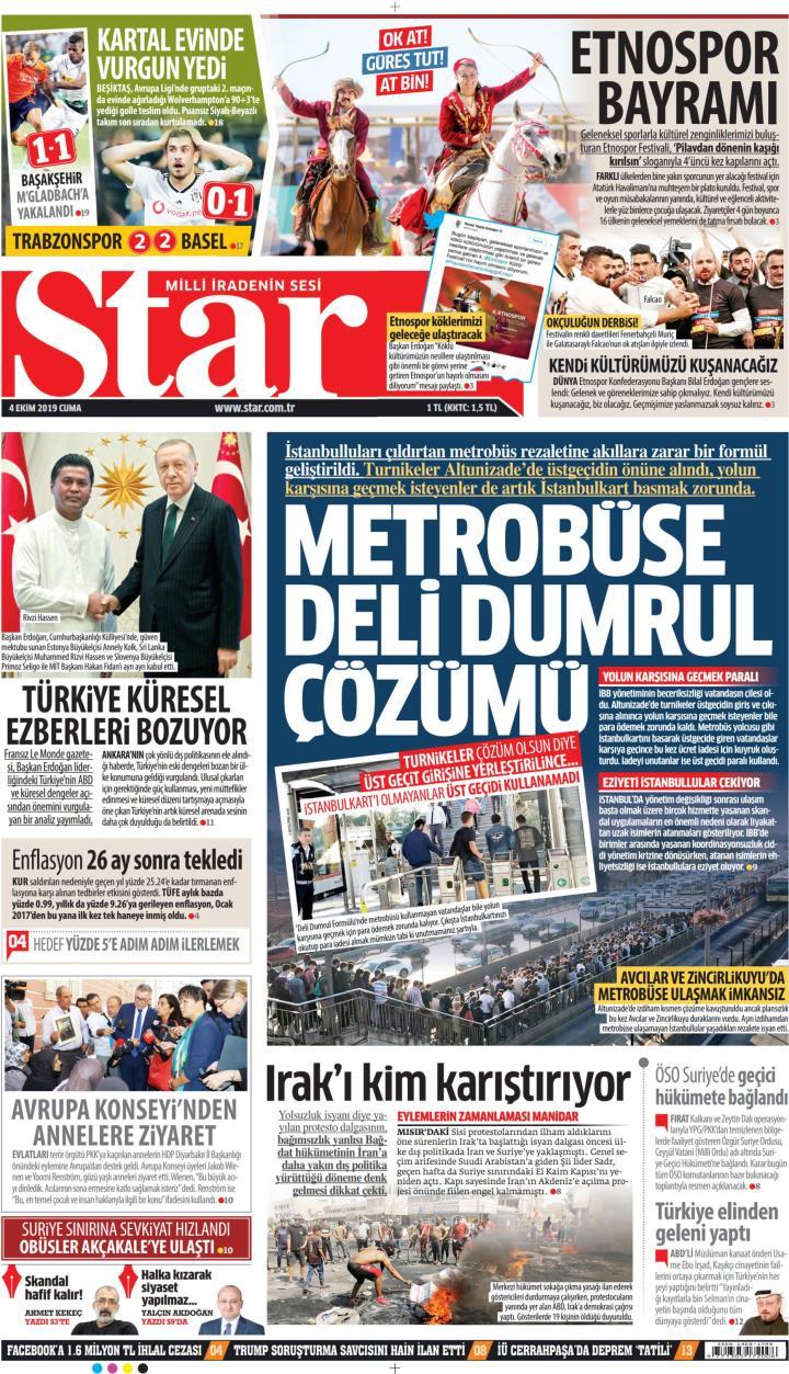STAR - 04 Ekim 2019