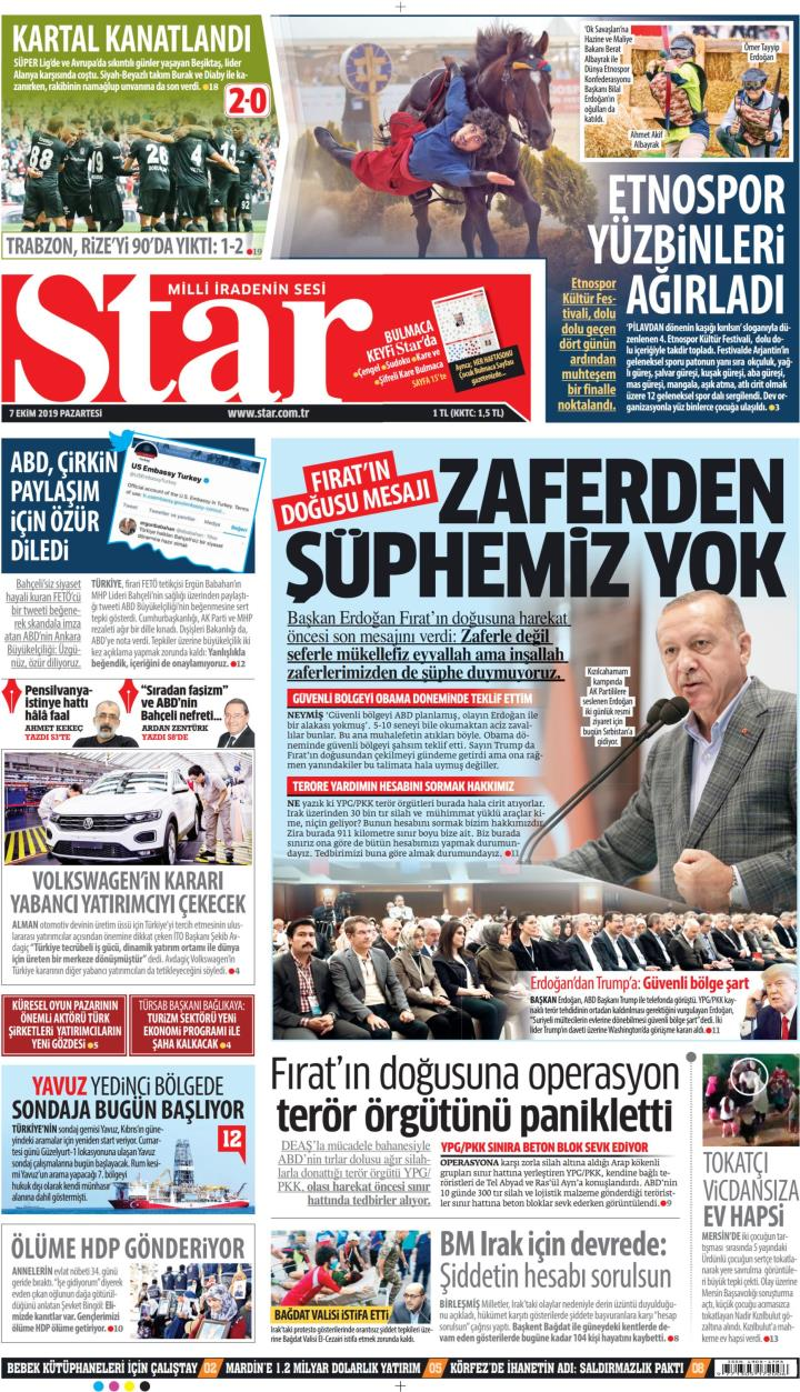 STAR - 07 Ekim 2019