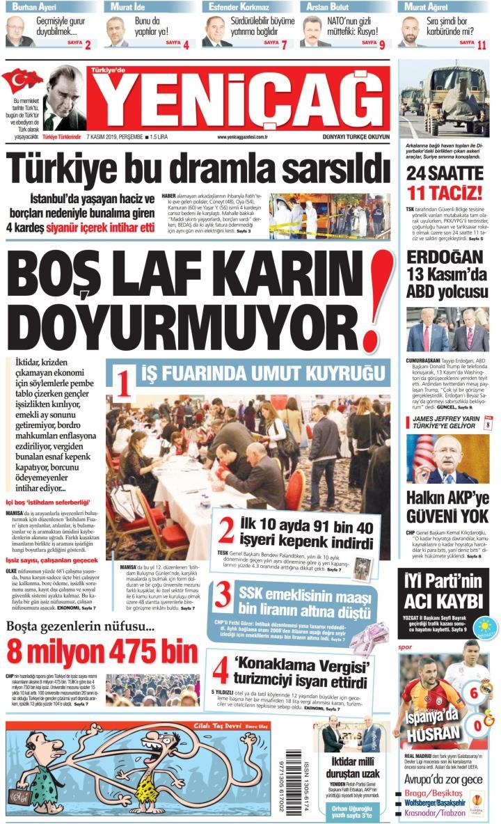 Türkiye'de Yeni Çağ - 07 Kasım 2019
