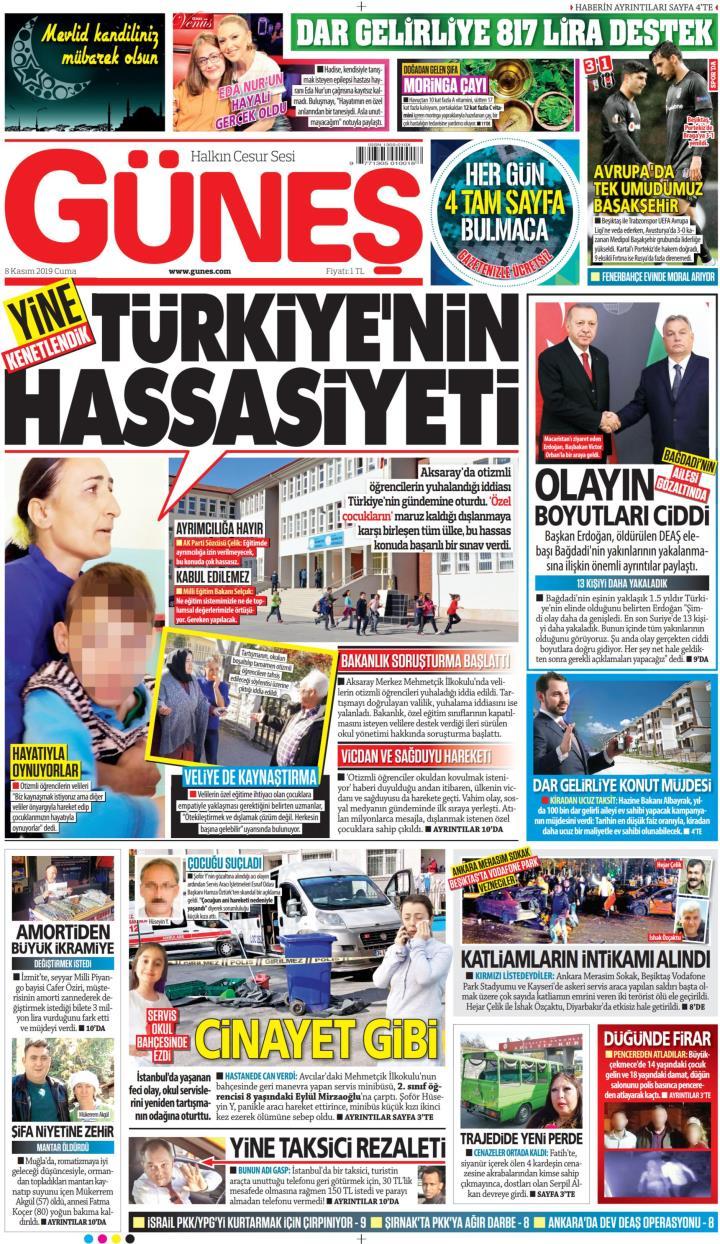 GÜNEŞ - 08 Kasım 2019