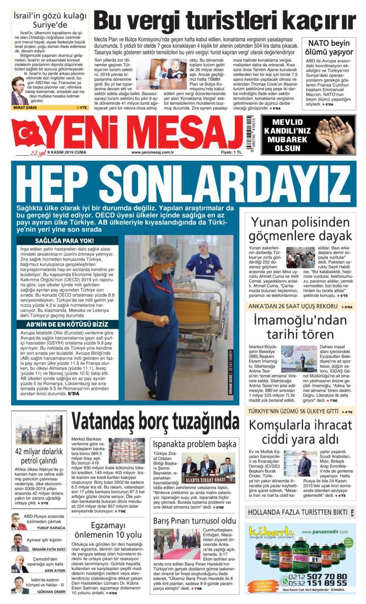 YENİ MESAJ - 08 Kasım 2019