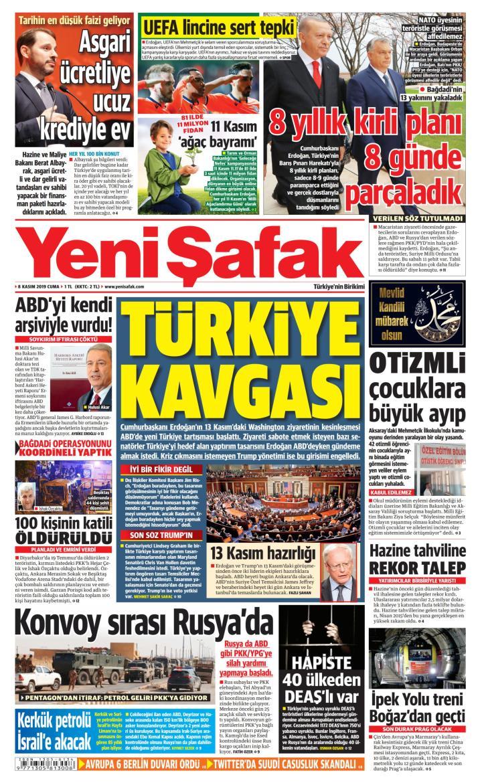 YENİ ŞAFAK - 08 Kasım 2019