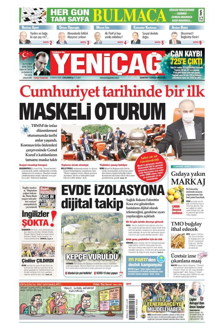 Türkiye'de Yeni Çağ - 08 Nisan 2020