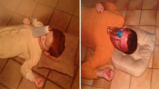 Çocukluk fotoğraflarıyla dalga geçen çılgın kardeşler