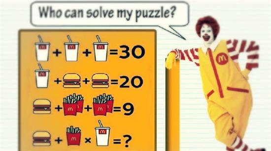 McDonalds bilmecesi: İnsanların %98'i doğru cevabı bulamıyor