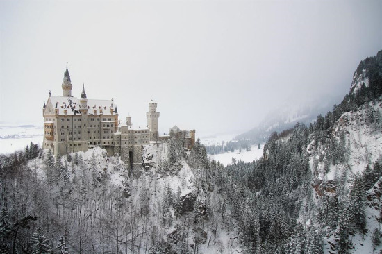 Neuschwanstein Kalesi. Bavyera, Almanya