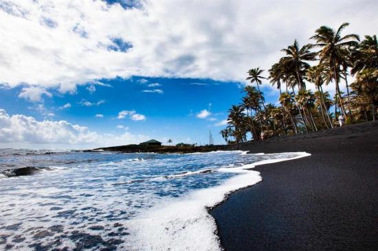 İzlanda'nın siyah kum plajı