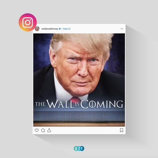 Trump'tan 'duvarlı' paylaşım