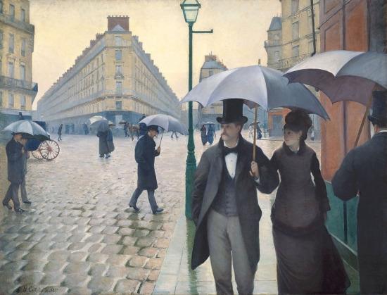 """""""Paris Sokakları; Yağmurlu Bir Gün"""" Gustave Caillebotte (1876)"""