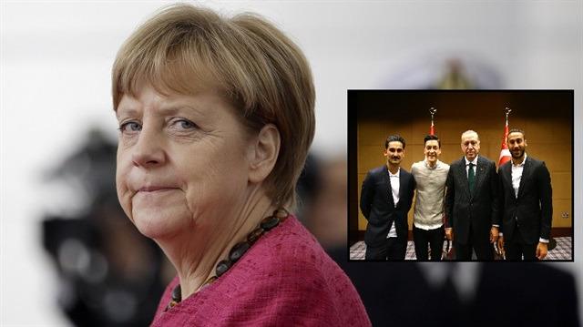 Merkel'den Mesut ve İlkay'ın Erdoğan ziyaretine tepki