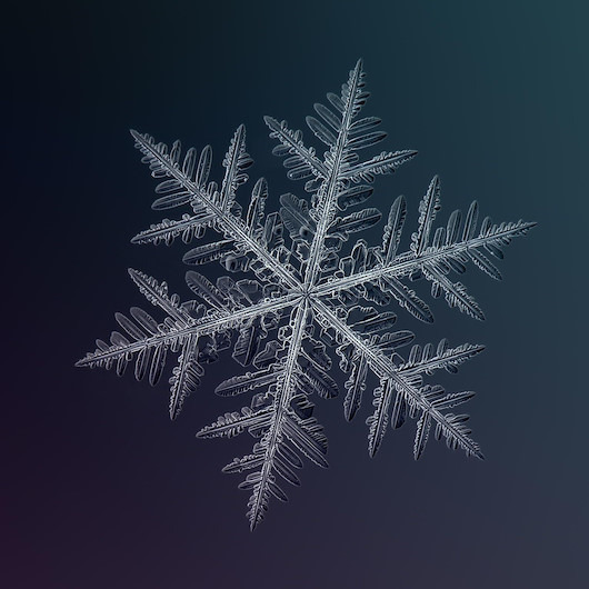 Kar kristallerine yakından bakalım