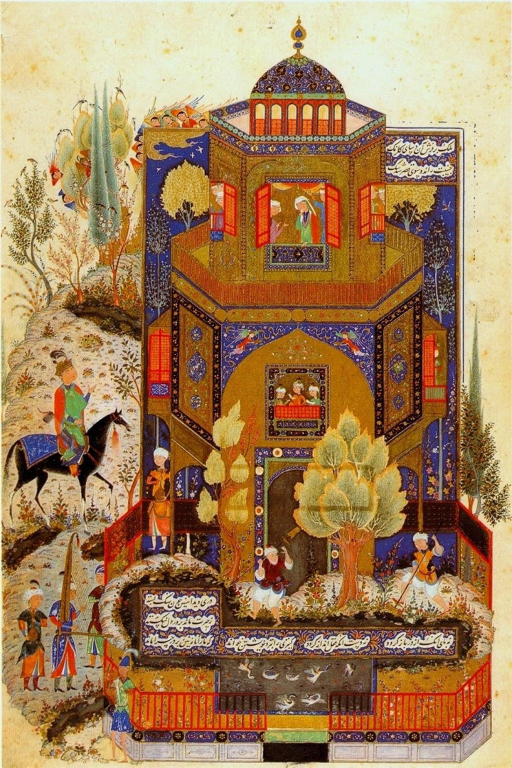 İbn Battuta'nın Tebriz ziyaretini tasvir ettiği iddia edilen minyatür.