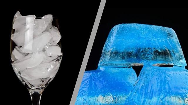 Buzların erime halleri büyülüyor