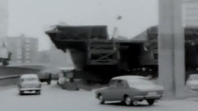 1974'te Mecidiyeköy viyadüğü