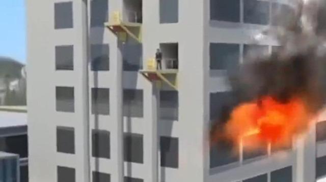 Yangın merdiveni yerine yapılan muhteşem sistem